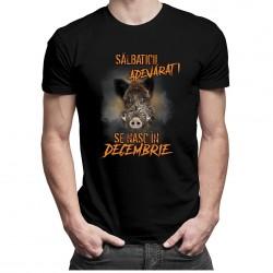 Sălbaticii adevăraţi se nasc în decembrie - T-shirt pentru bărbați și femei