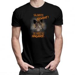 Sălbaticii adevăraţi se nasc în ianuarie - T-shirt pentru bărbați și femei - un cadou de ziua ta