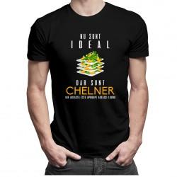 Nu sunt ideal dar sunt chelner - T-shirt pentru bărbați