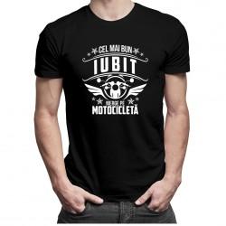 Cel mai bun iubit merge pe motocicletă - t-shirt pentru bărbați