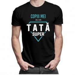 Copiii mei au un tată super - T-shirt pentru bărbați