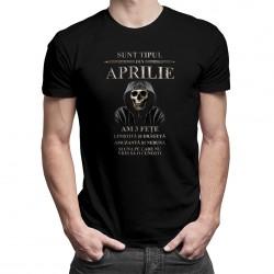 Sunt tipul din aprilie. Am 3 fețe: liniștită și drăguță - tricou bărbătesc cu imprimeu.