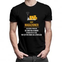 Sunt magazioner - soluționez probleme - T-shirt pentru bărbați