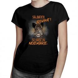 Sălbaticii adevăraţi se nasc în noiembrie - T-shirt pentru bărbați și femei