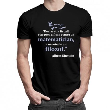 Declarația fiscală - Albert Einstein - T-shirt pentru bărbați