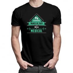 Siguranța înainte de toate, de aceea bea cu medicul - T-shirt pentru bărbați