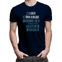 Liber / într-o relație / ocupat cu o atractivă asistentă medicală - T-shirt pentru bărbați